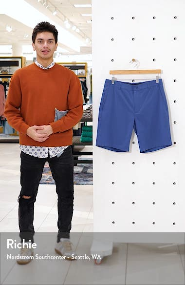 Flat Front Seersucker Shorts, sales video thumbnail