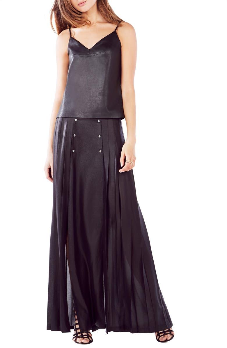 BCBGMAXAZRIA 'Karissa' Faux Leather Camisole, Main, color, 001