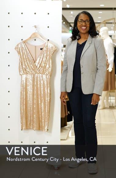 Sequin Surplice Dress, sales video thumbnail