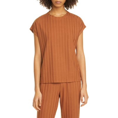 Eileen Fisher Ribbed Top, Brown