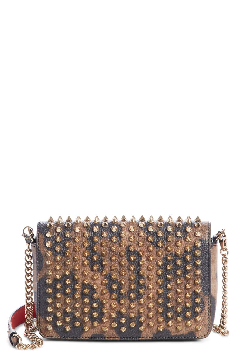 079e8a34205 Christian Louboutin Zoompouch Leopard Print Leather Clutch | Nordstrom