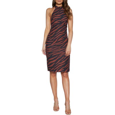 Bardot Sammie Halter Dress, Brown