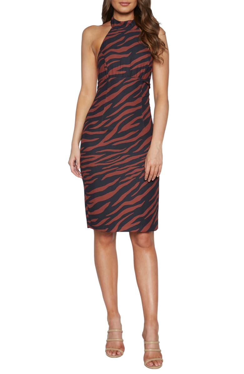 BARDOT Sammie Halter Dress, Main, color, 200