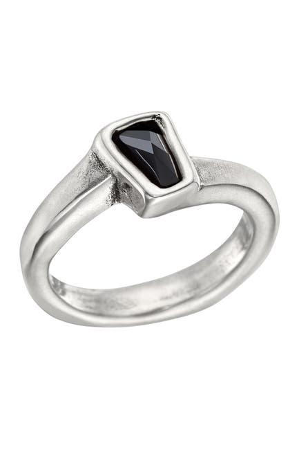 Image of Uno De 50 Silver Plated Bezel Set Swarovski Crystal Glamatic Ring