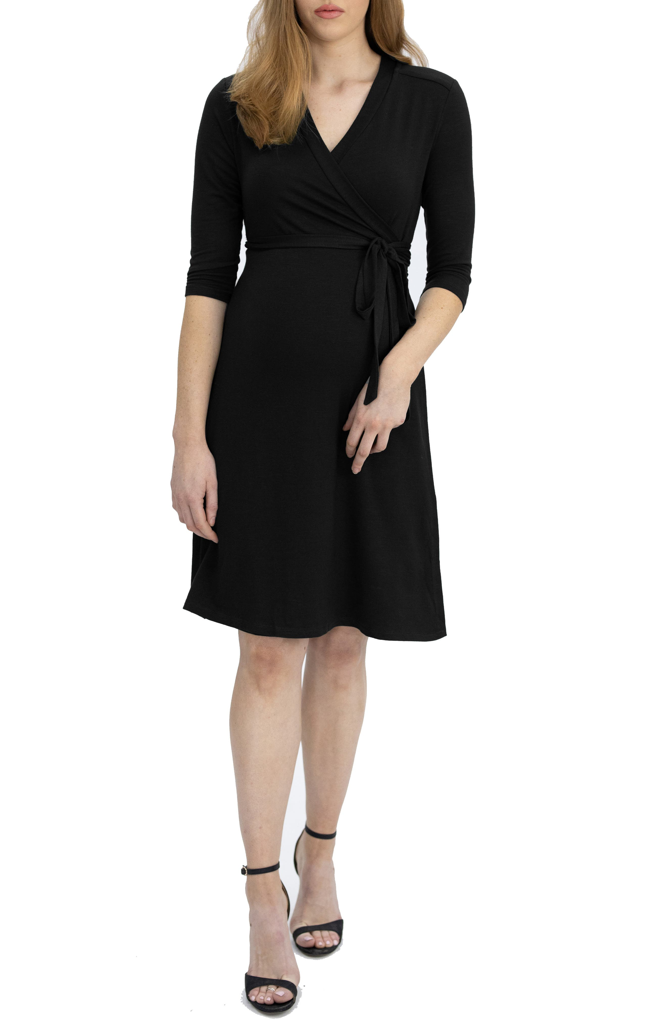 A wrap design comfortably fits and flatters your baby bump through every trimester in this supersoft slub-jersey dress that can be dressed up or down. The neckline makes it easy to nurse on the go once baby comes. Style Name: Angel Maternity Jersey Maternity/nursing Wrap Dress. Style Number: 6121335. Available in stores.