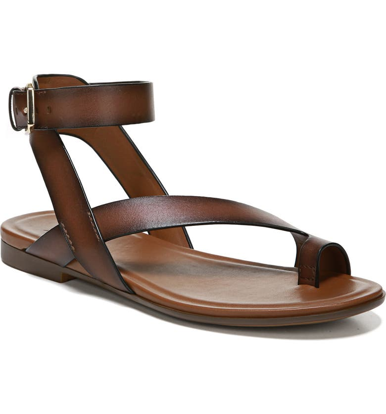 NATURALIZER Tally Ankle Strap Sandal, Main, color, LODGE BROWN LEATHER