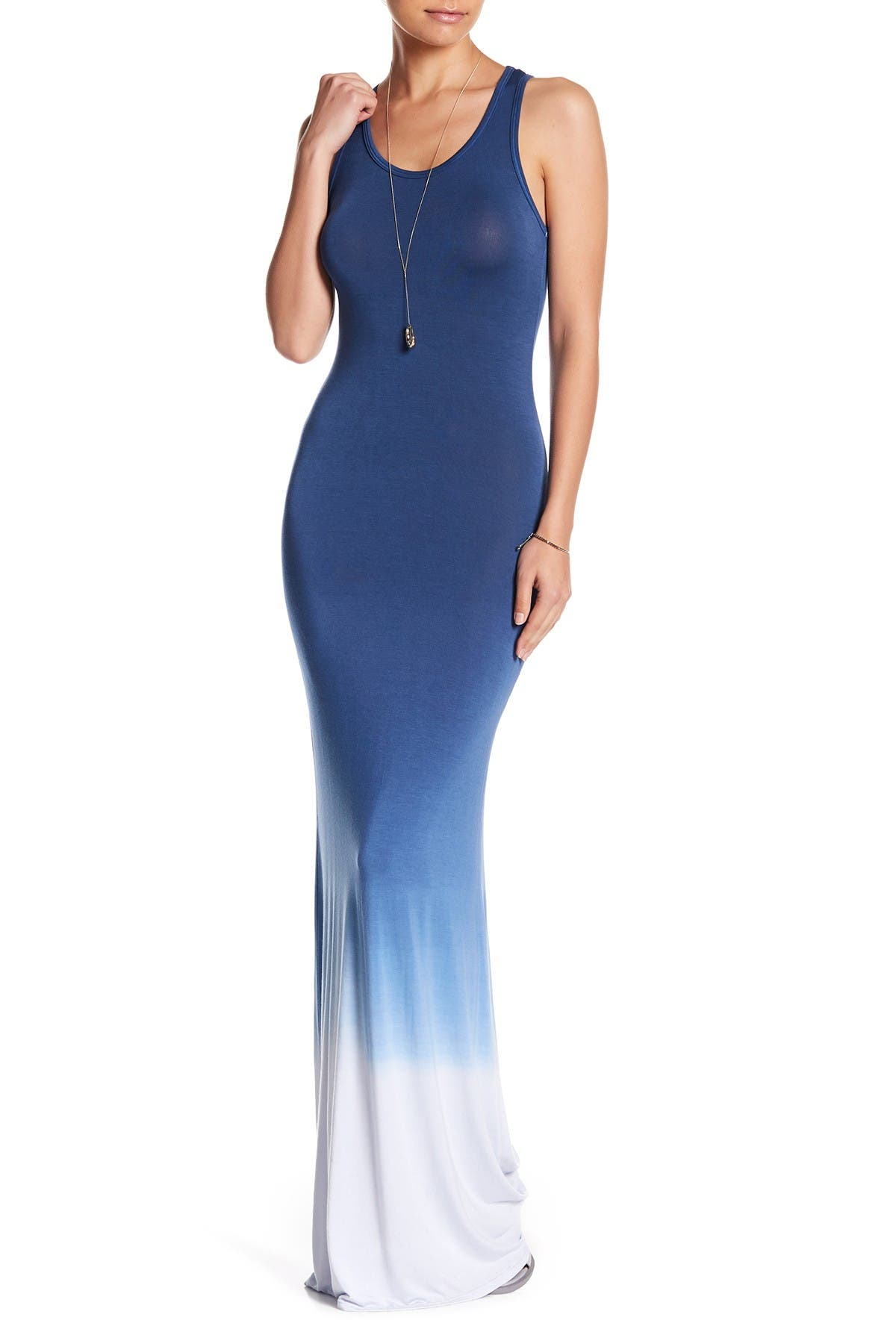 Image of Go Couture Racerback Tie Dye Maxi Dress