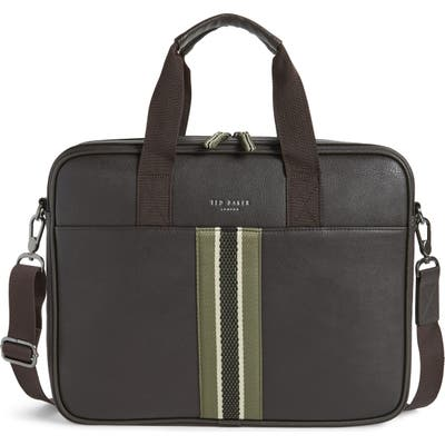 Ted Baker London Faux Leather Document Bag - Brown