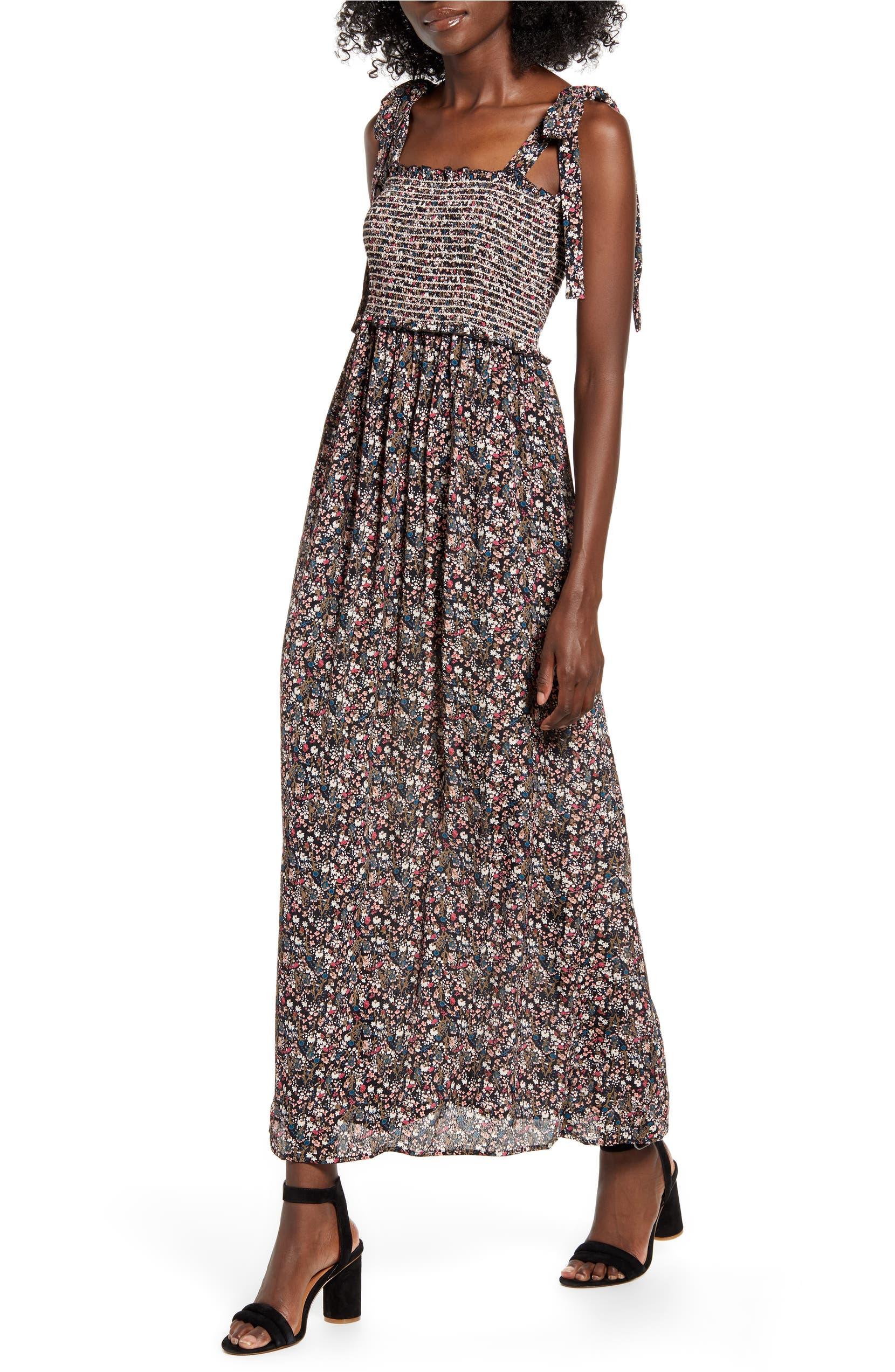 eb93066b83659 Floral Smocked Maxi Dress