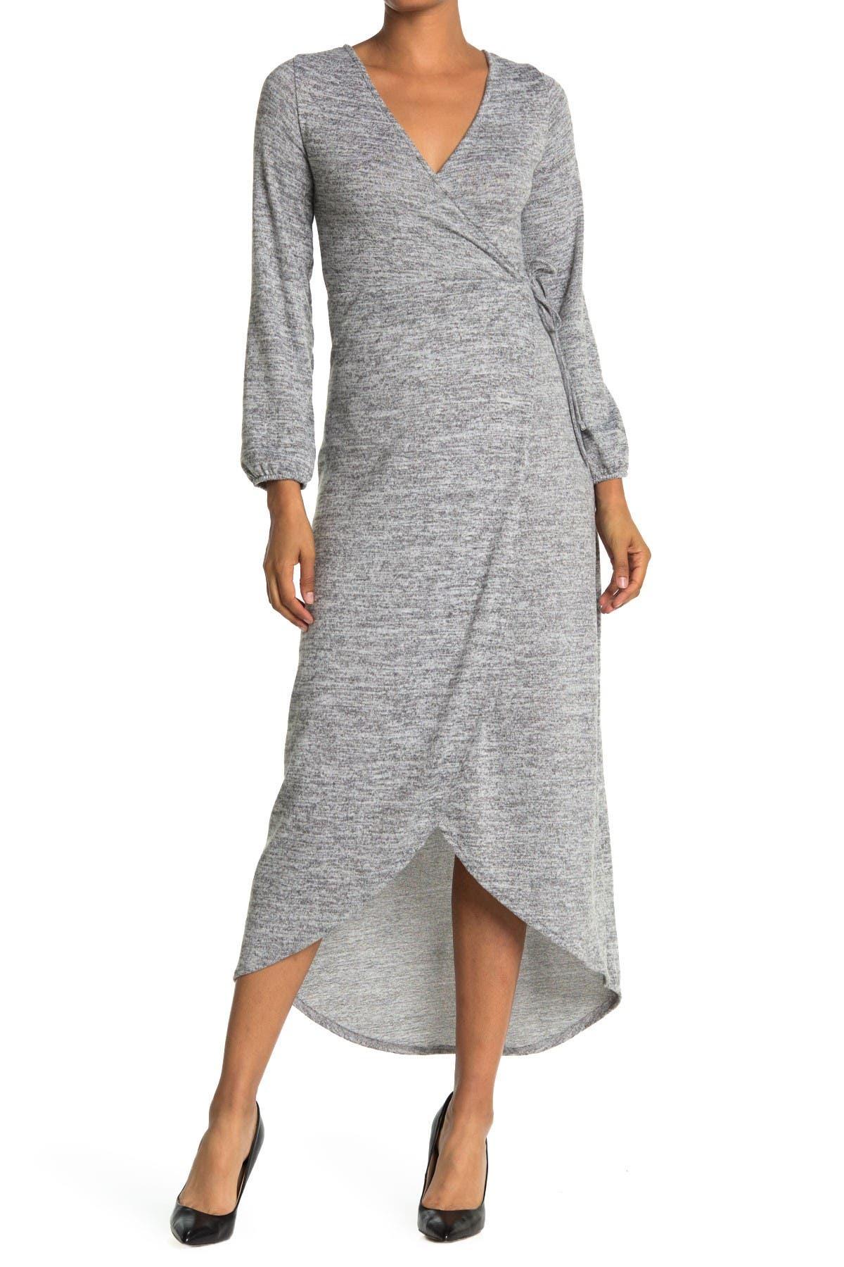 Image of Velvet Torch Long Sleeve Wrap Dress