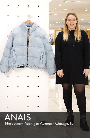 Bleach Denim Puffer Coat, sales video thumbnail