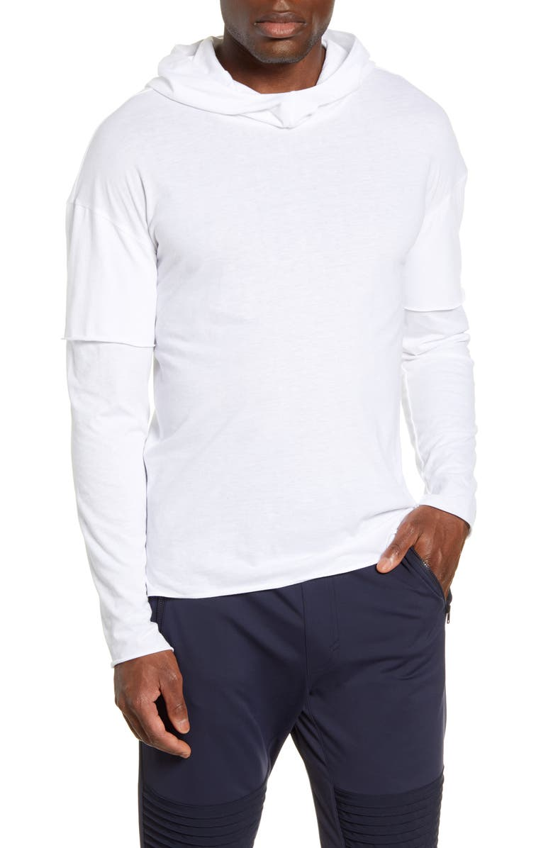 ALO 2-in-1 Pullover Hoodie, Main, color, WHITE