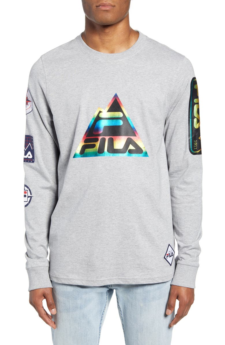 FILA Peak Long Sleeve T-Shirt, Main, color, HEATHER GREY