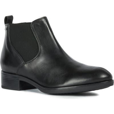 Geox Felicity Amphibiox Waterproof Chelsea Boot, Black