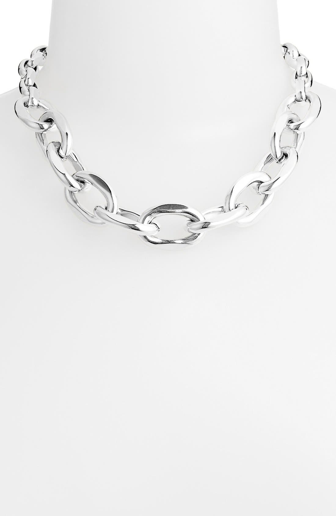 ,                             Chunky Link Collar Necklace,                             Main thumbnail 1, color,                             040