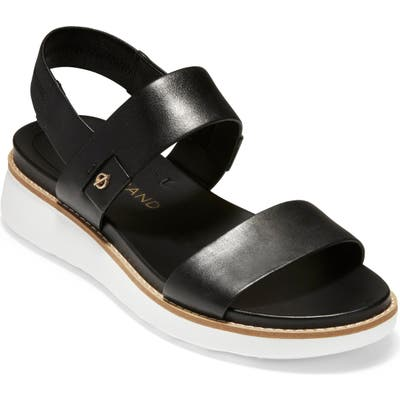 Cole Haan Zerogrand Double Band Sandal B - Black