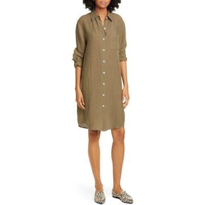 Jenni Kayne Long Sleeve Linen Shirtdress, Green