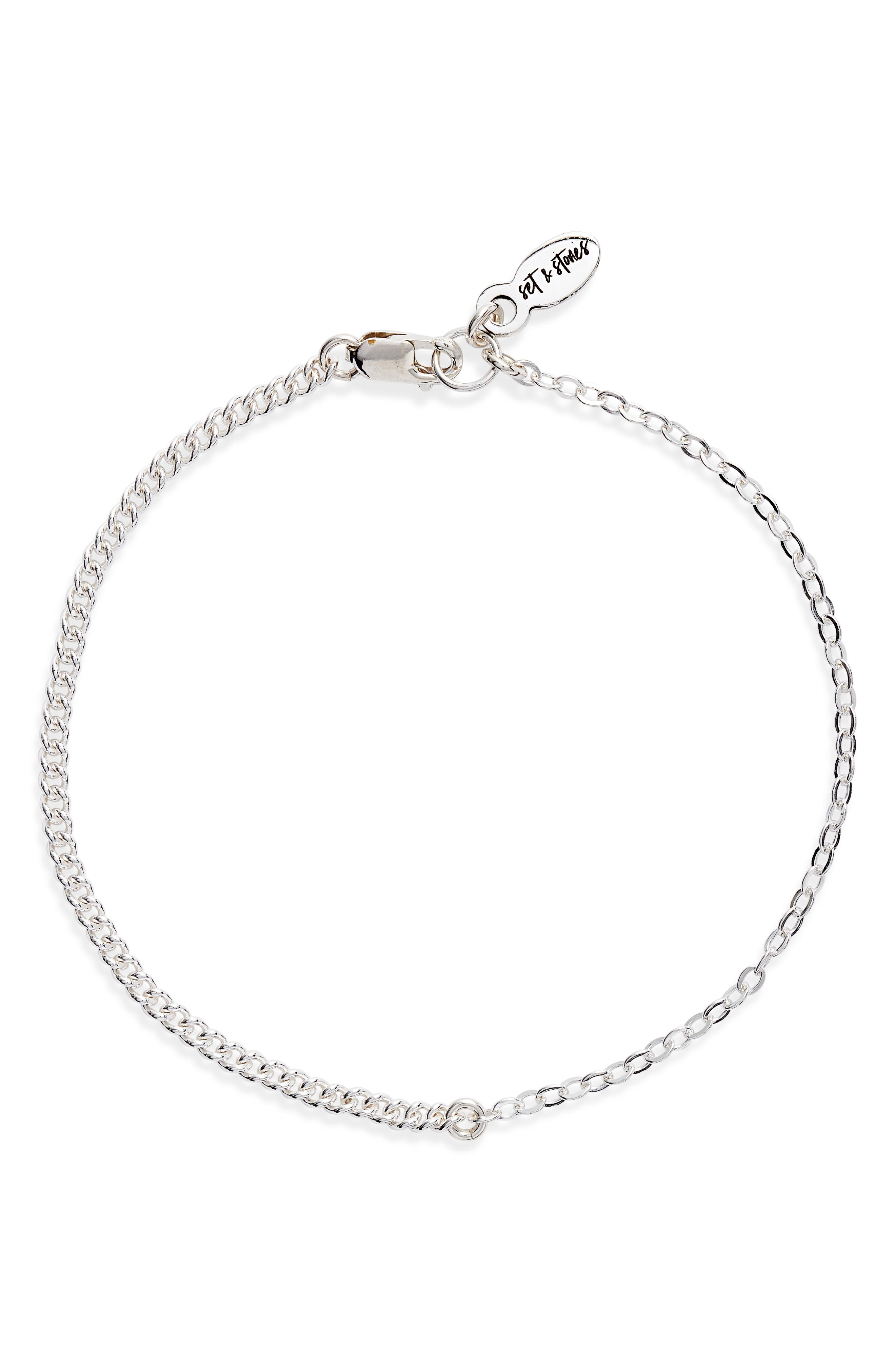 A mix of links brings gleam and shine to this versatile chain bracelet that will quickly be your everyday fave. Style Name: Set & Stones Jane Chain Link Braccelet. Style Number: 6093905. Available in stores.
