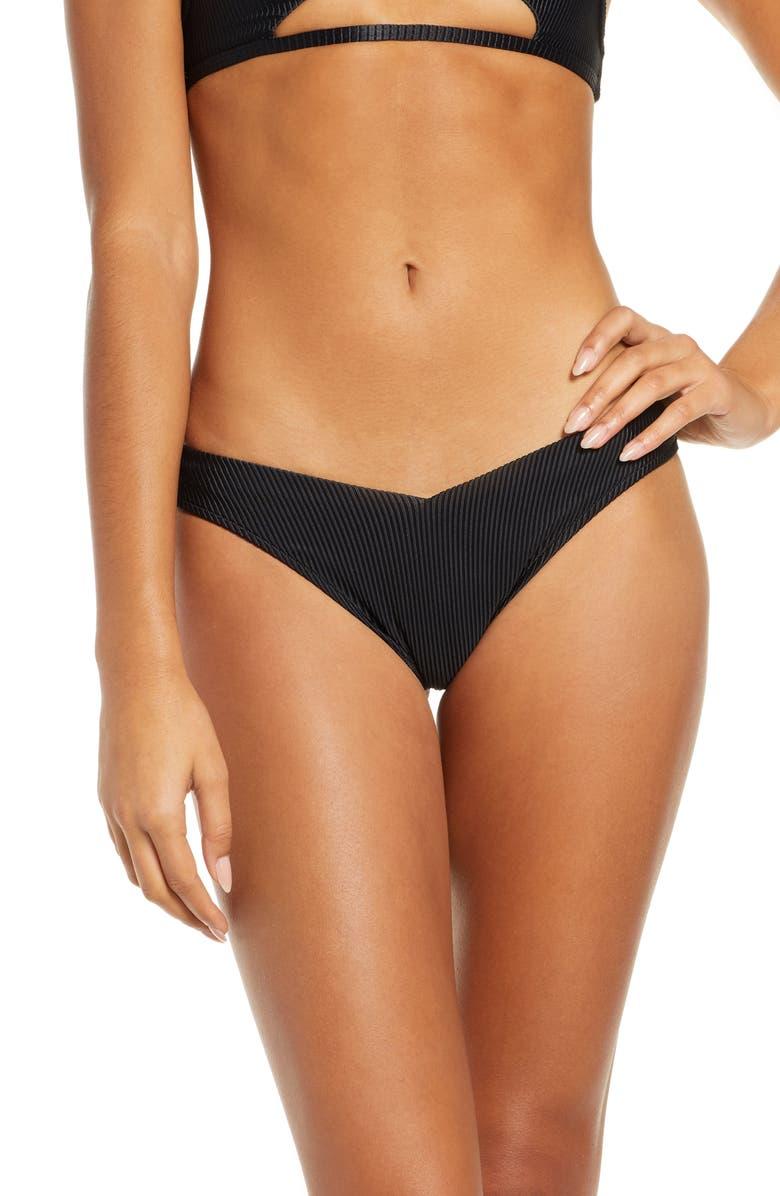 FRANKIES BIKINIS Enzo Bikini Bottoms, Main, color, BLACK