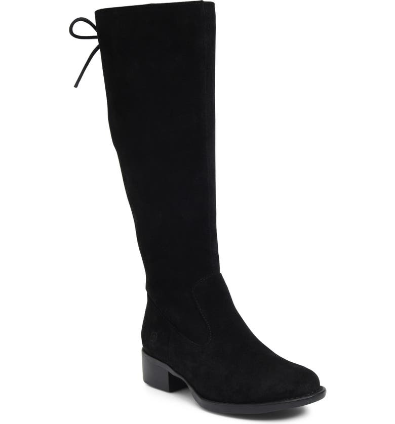 BØRN Cotto Tall Boot, Main, color, BLACK SUEDE