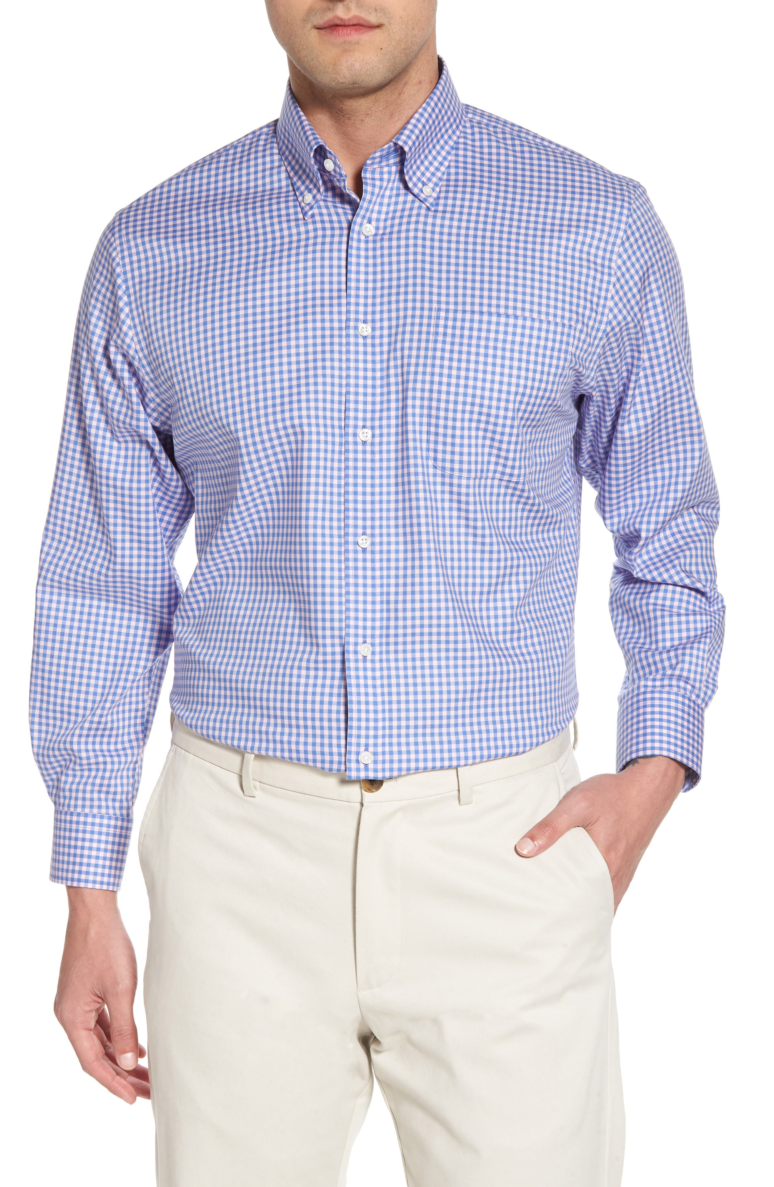 ,                             Traditional Fit Non-Iron Gingham Dress Shirt,                             Main thumbnail 27, color,                             650