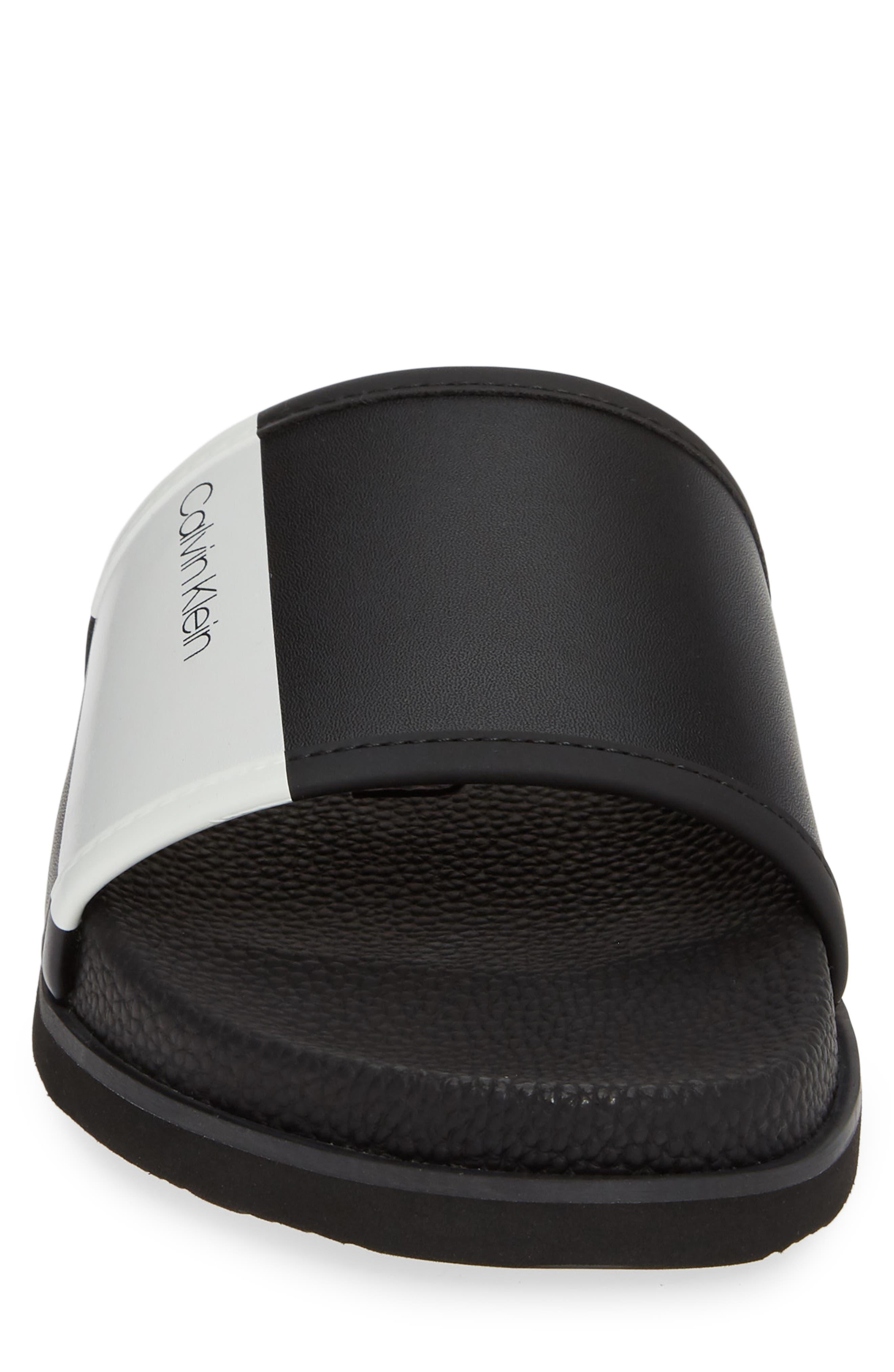 ,                             Mackee Slide Sandal,                             Alternate thumbnail 4, color,                             BLACK