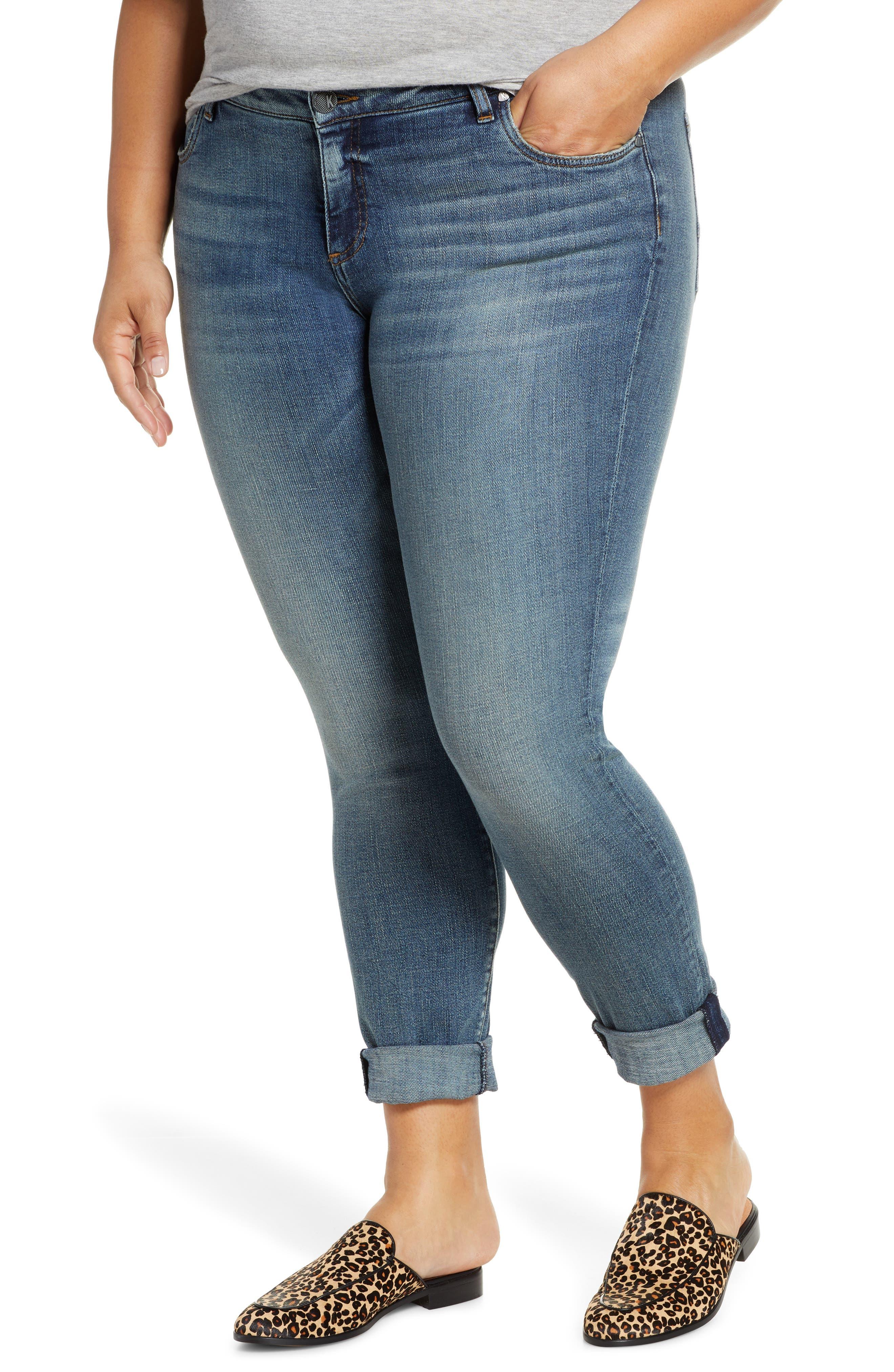 KUT from the Kloth Catherine Boyfriend Jeans (Achiever) (Plus Size)