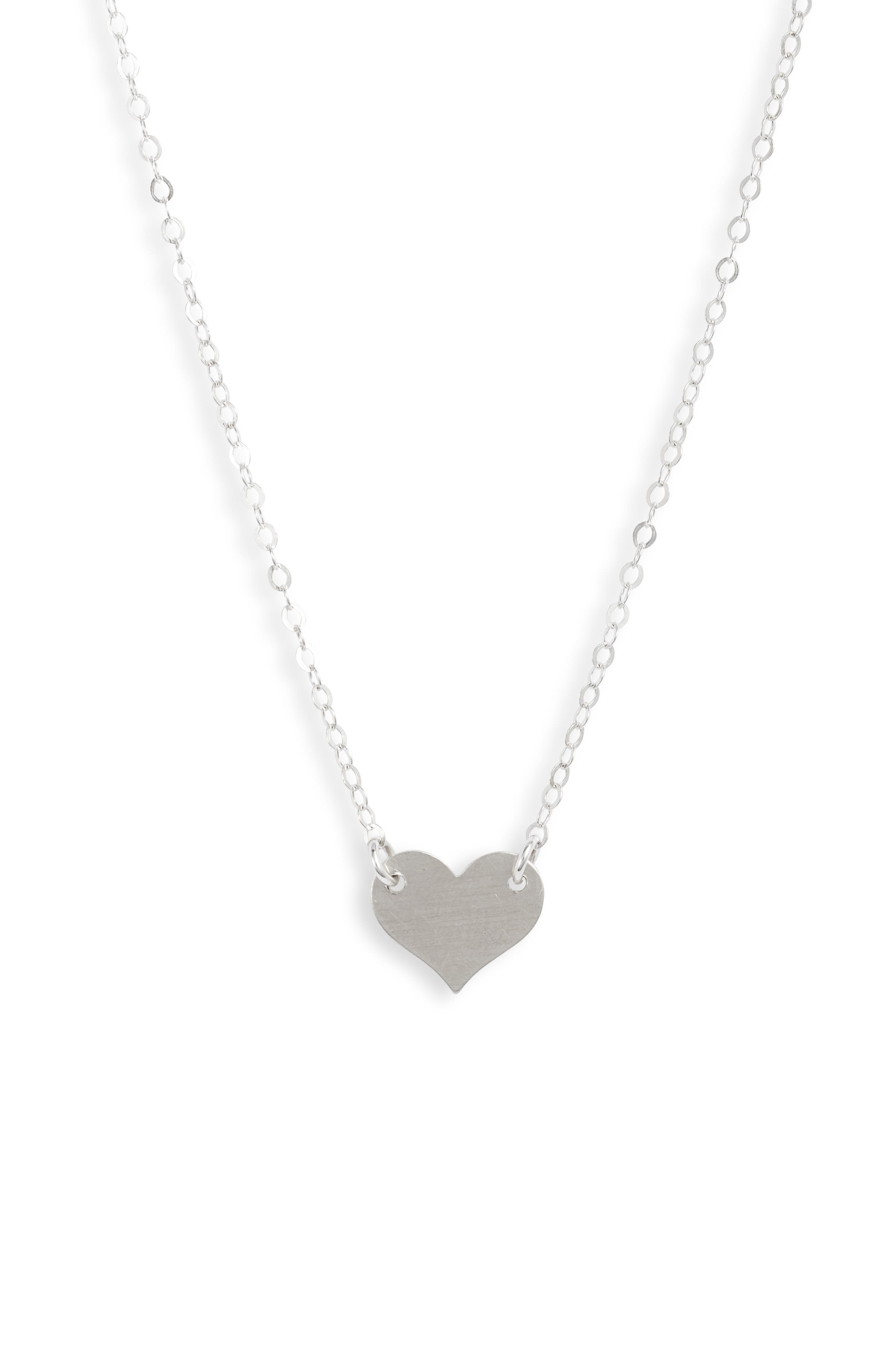Sweet, simple and easy to layer, this dainty necklace showcases a heart charm that\\\'s both playful and romantic. Style Name: Set & Stones Jenny Heart Necklace. Style Number: 6057549. Available in stores.