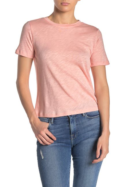 Image of Splendid Slub Knit Crew Neck T-Shirt