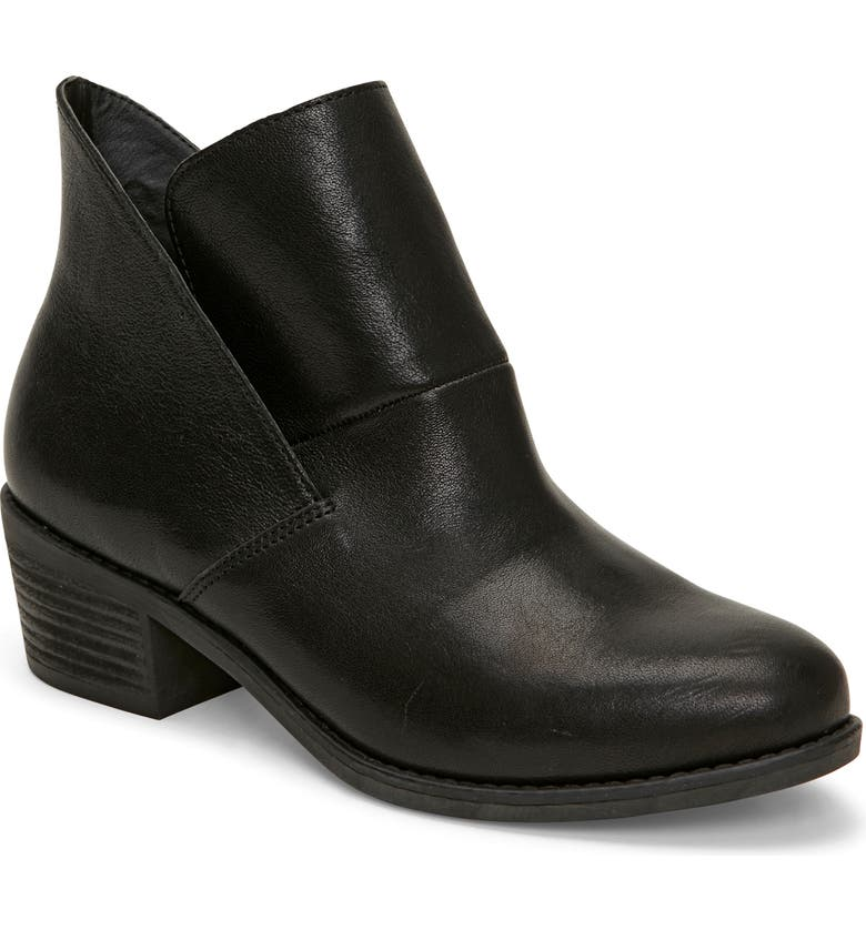 ME TOO Zest Bootie, Main, color, BLACK LEATHER