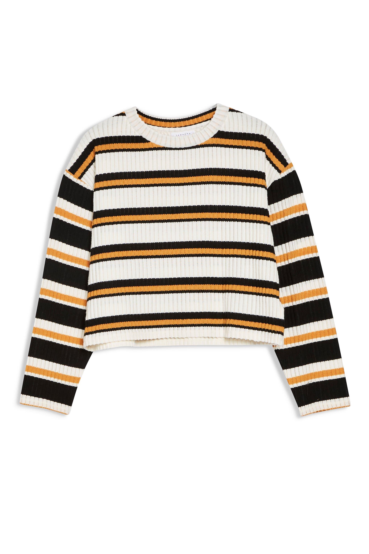 ,                             Stripe Cut & Sew Sweater,                             Alternate thumbnail 3, color,                             001