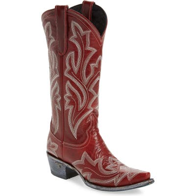 Lane Boots Saratoga Western Boot, Red