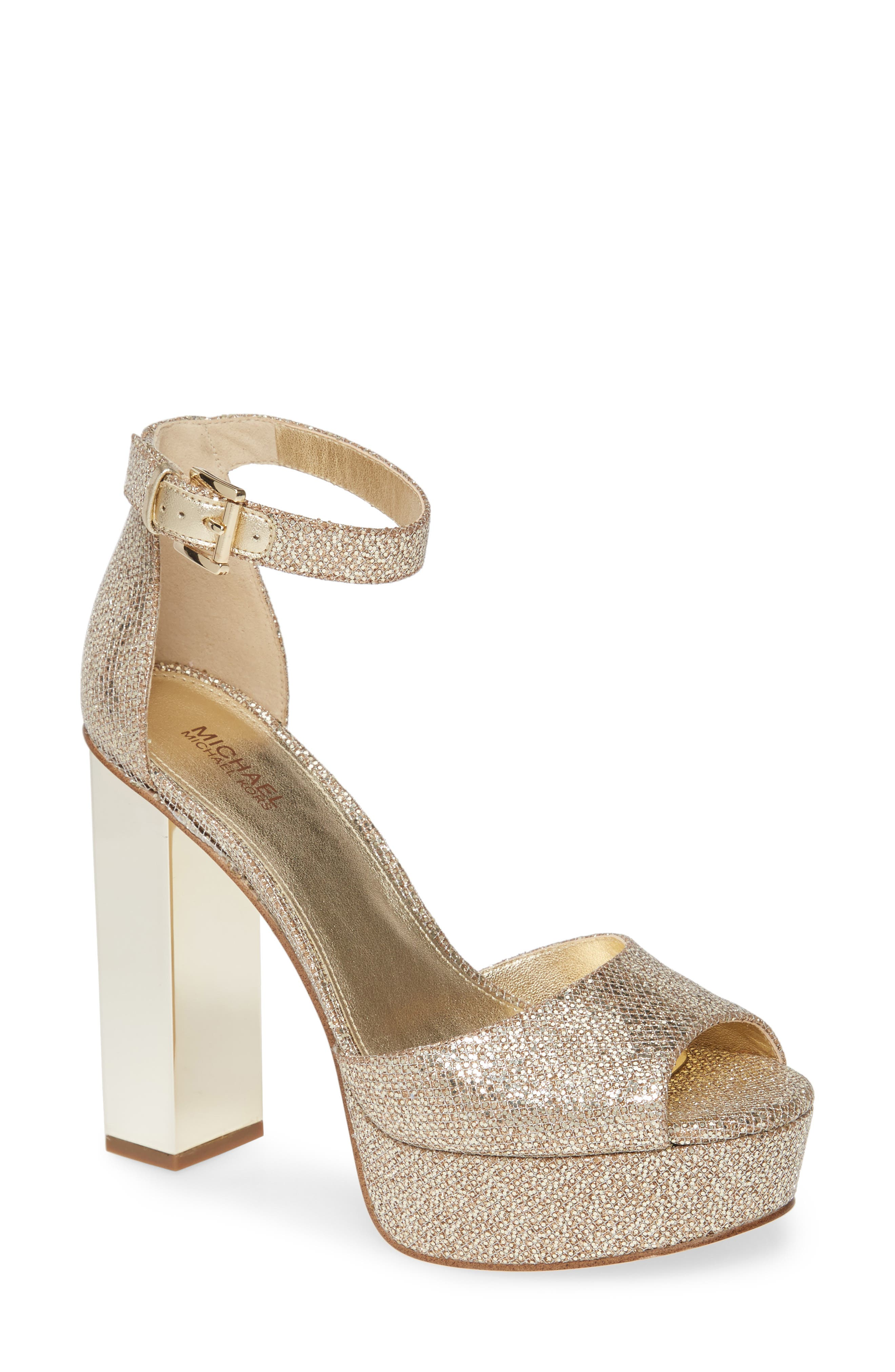 MICHAEL Michael Kors Petra Ankle Strap Platform Sandal (Women)