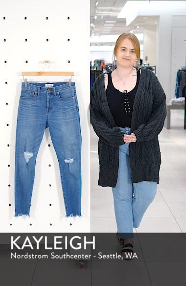 9-Inch Torn Knee Skinny Jeans, sales video thumbnail