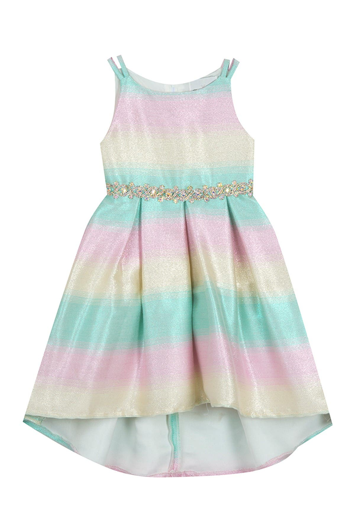 Image of Rare Editions Ombre Jacquard Hi-Low Dress