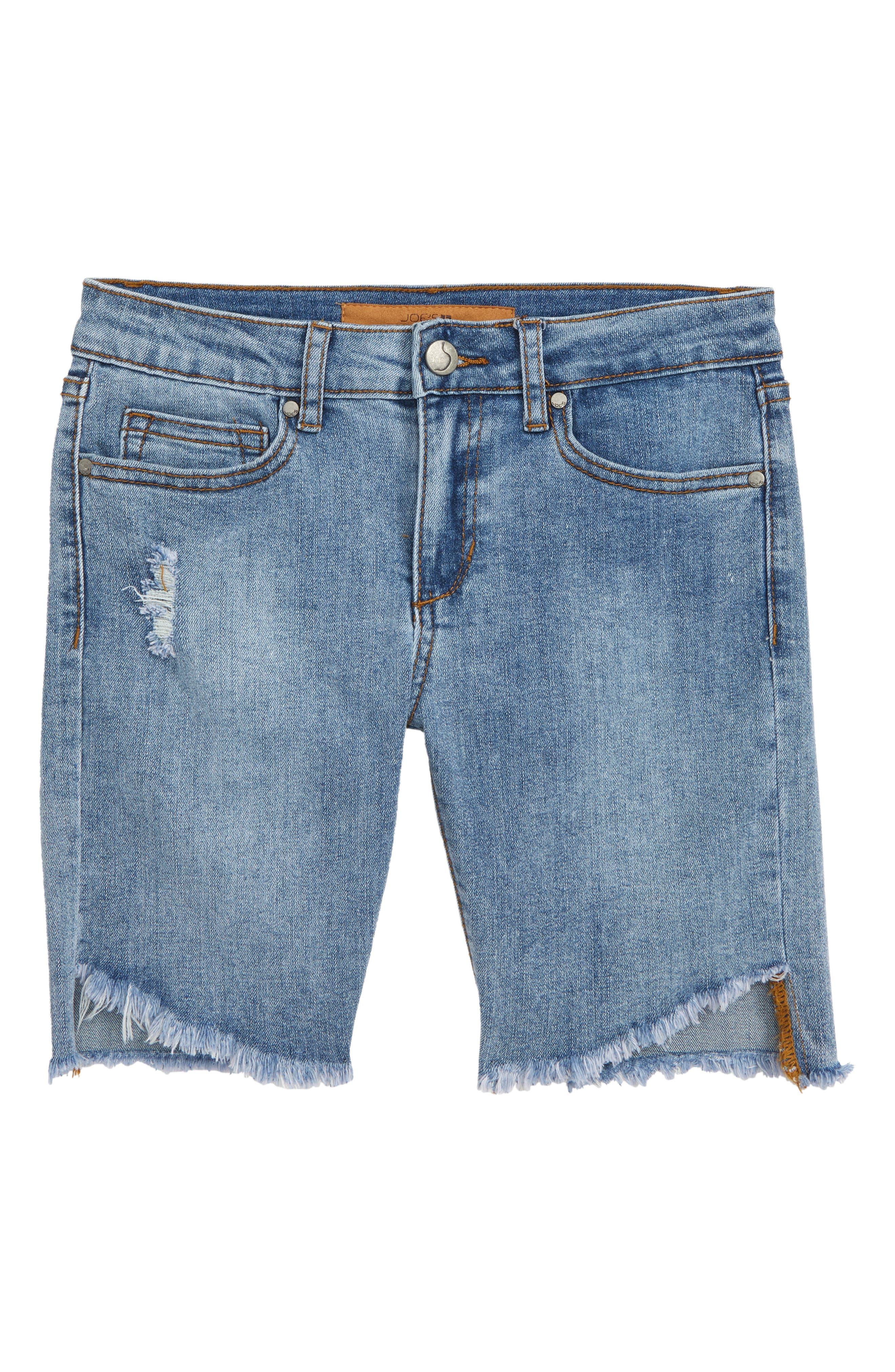 The Finn Cutoff Denim Bermuda Shorts, Main, color, THOMPSON