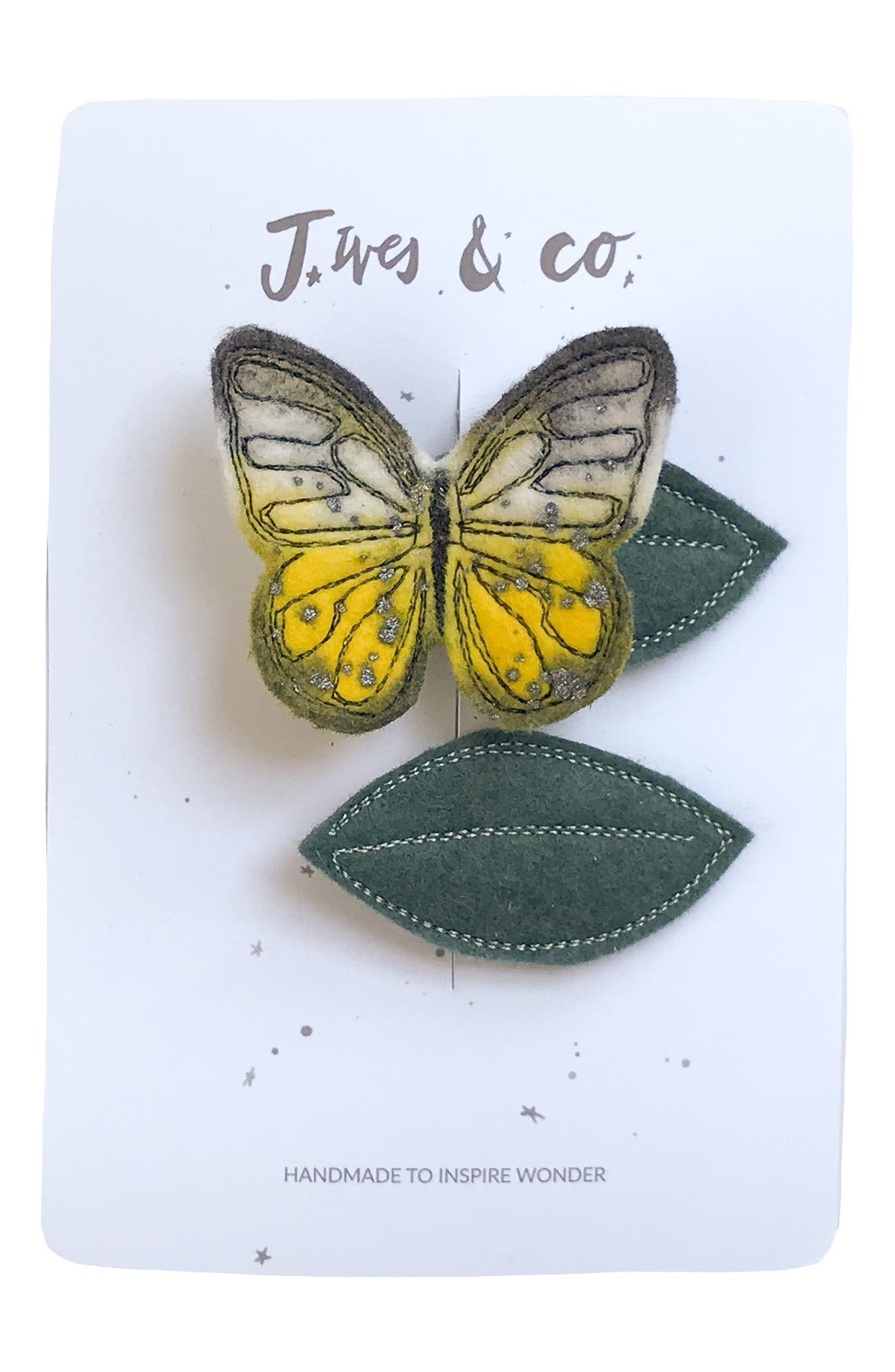 Baby Jives  Co Butterfly 2Pack Hair Clips Size One Size  Yellow