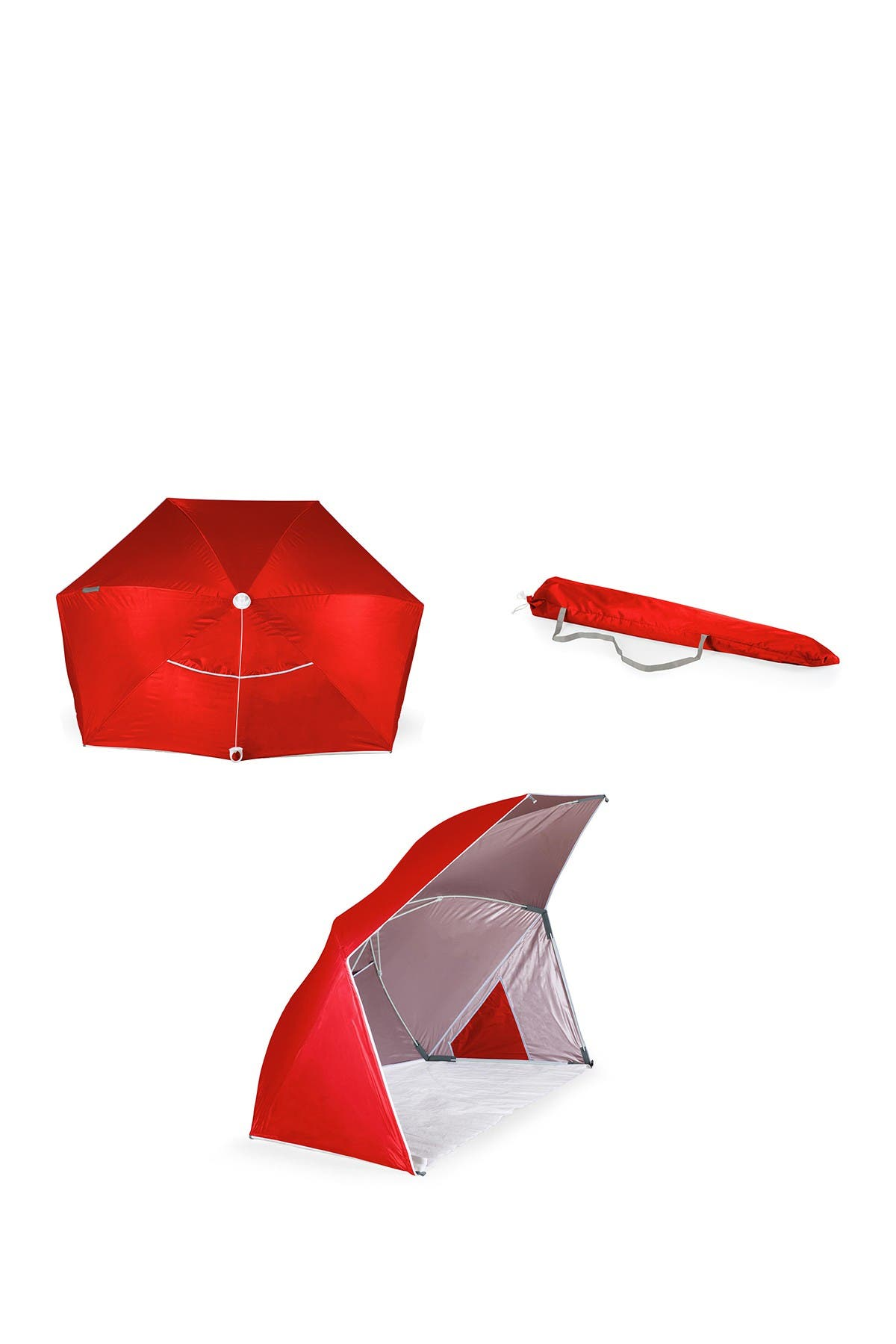 Image of Picnic Time Brolly-Beach Umbrella - Red
