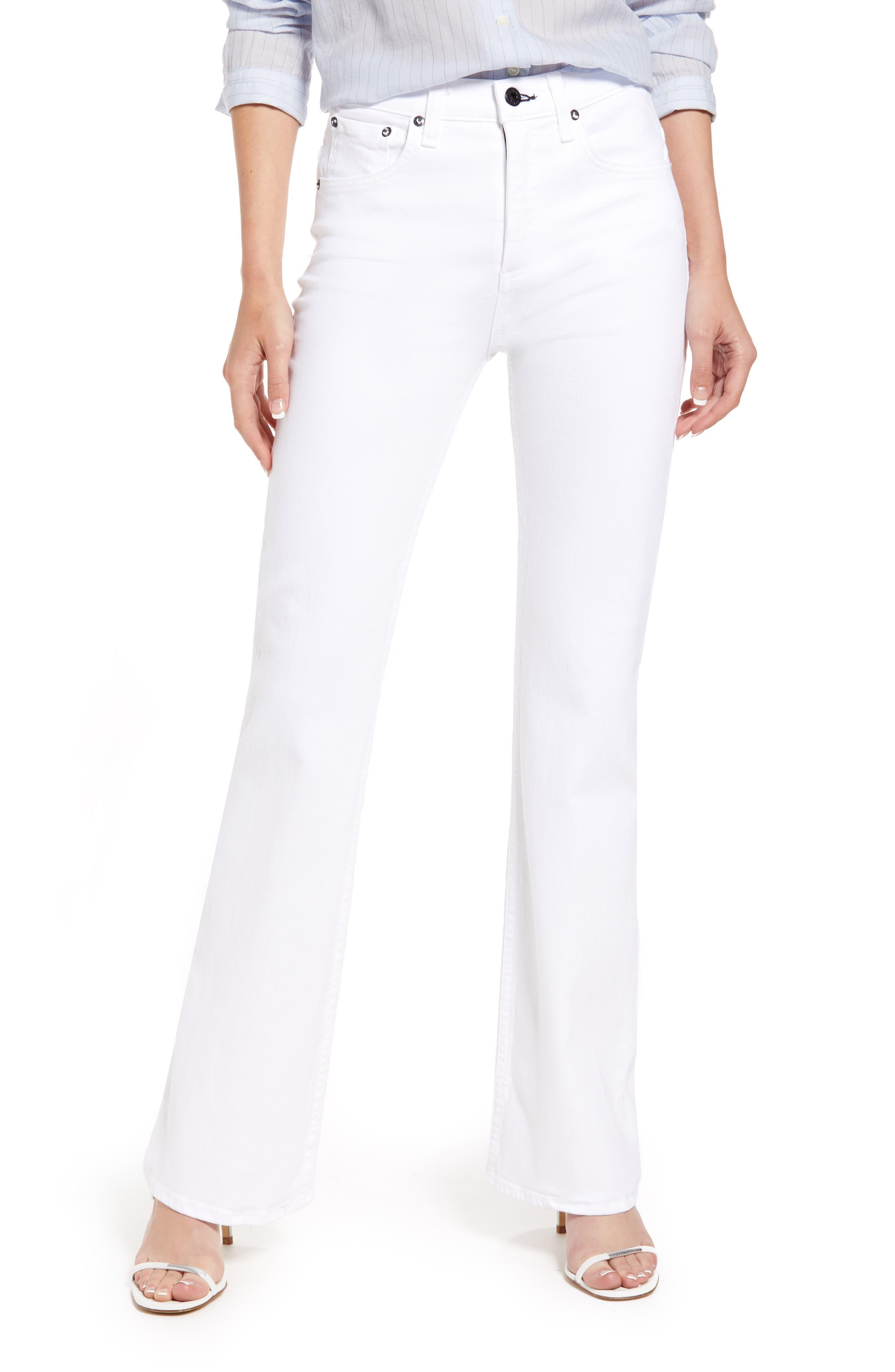High Waist Straight Kick Jeans