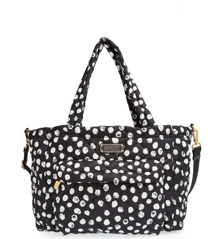 MARC JACOBS MARC BY MARC JACOBS 'Crosby - Elizababy' Quilted Diaper Bag, Main, color, 001