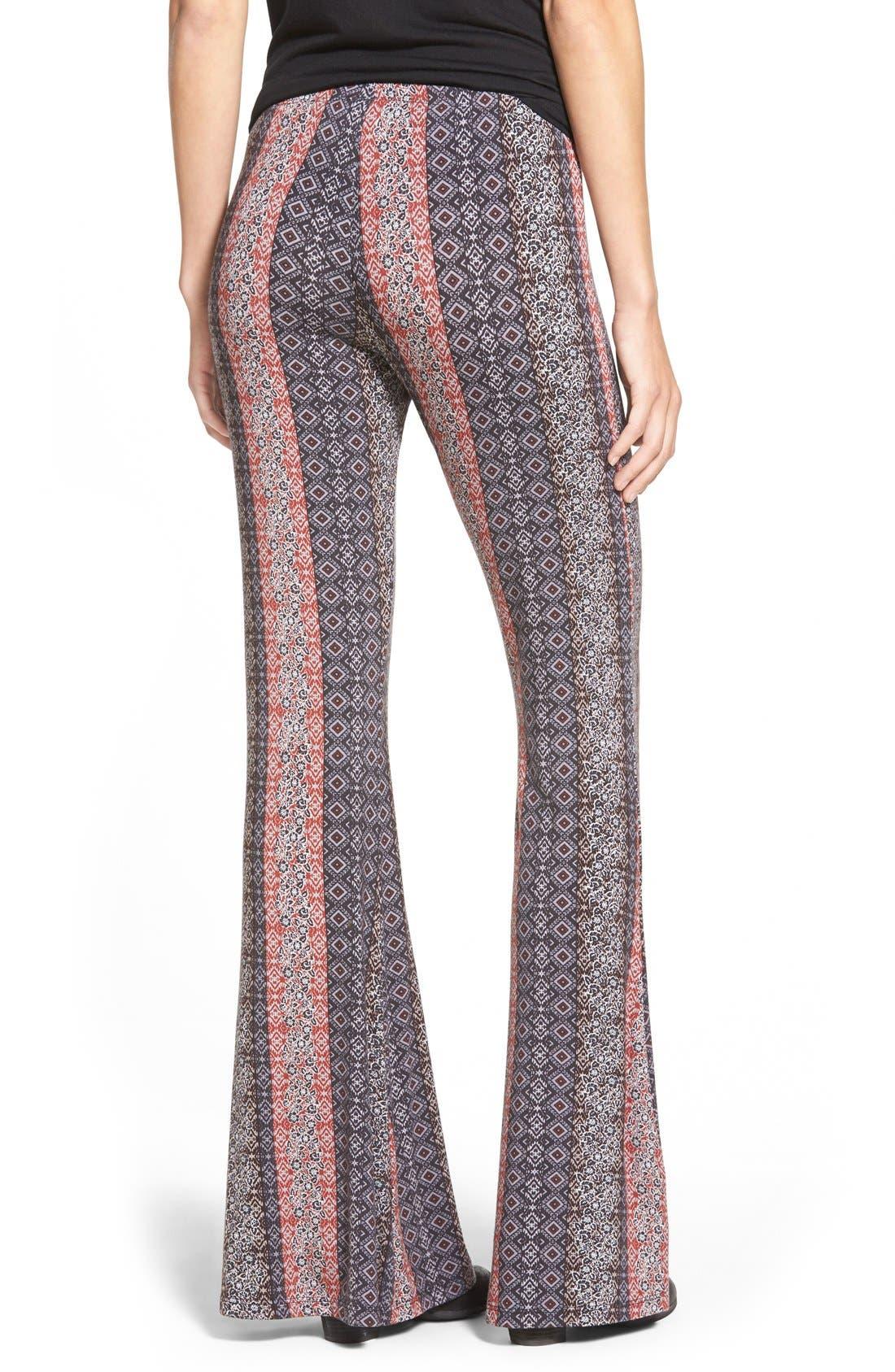 ,                             Mixed Print Flare Leg Pants,                             Alternate thumbnail 53, color,                             081