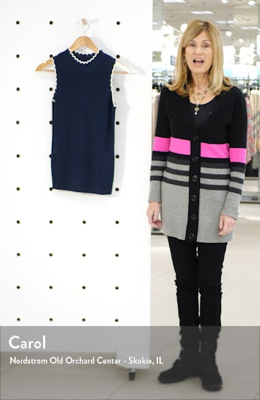Scallop Cotton Blend Sleeveless Sweater, sales video thumbnail