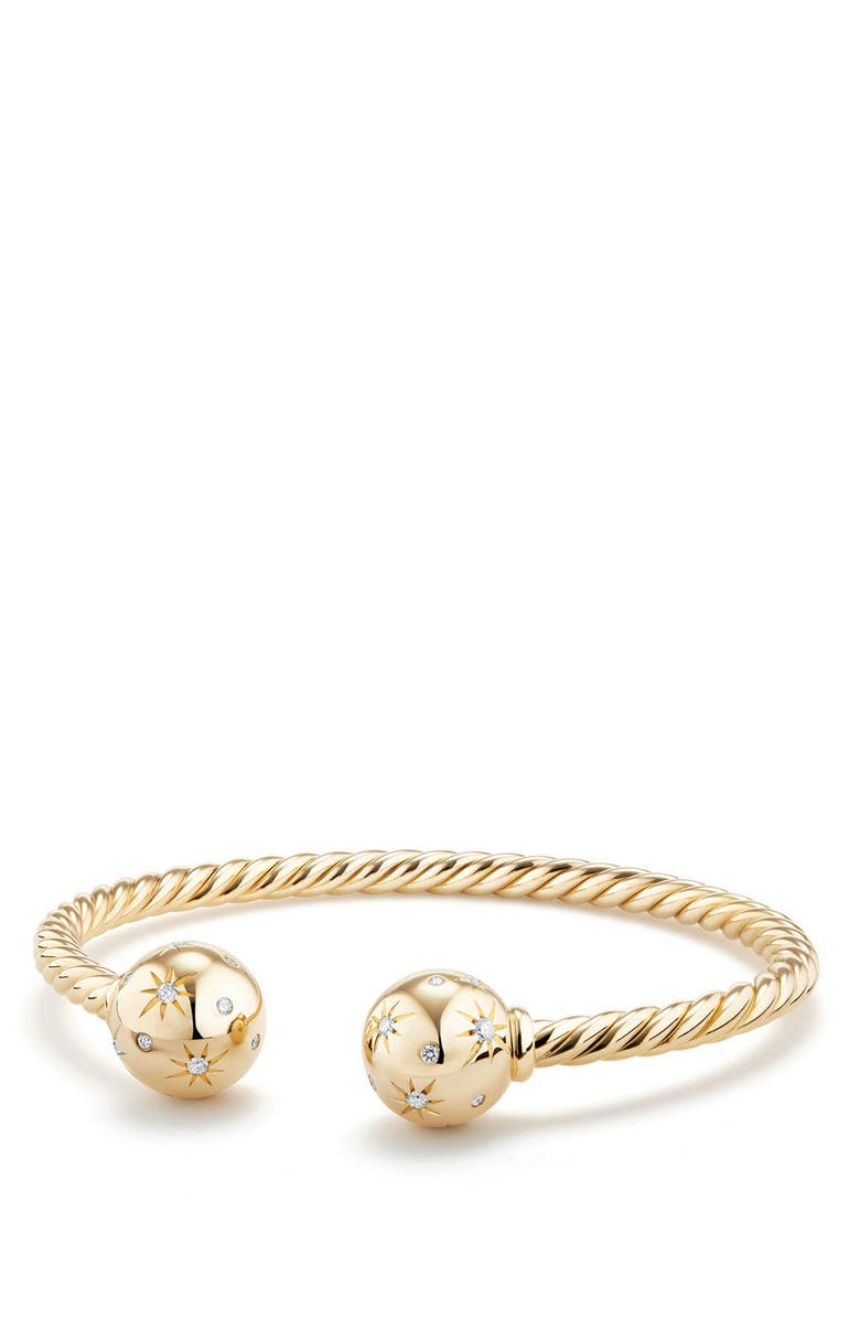 DAVID YURMAN Solari Bead Bracelet with Diamonds in 18K Gold, Main, color, YELLOW GOLD