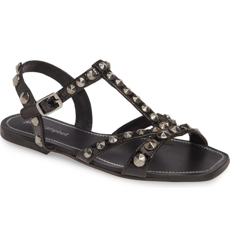 JEFFREY CAMPBELL Amaryl Studded Sandal, Main, color, BLACK COMBO