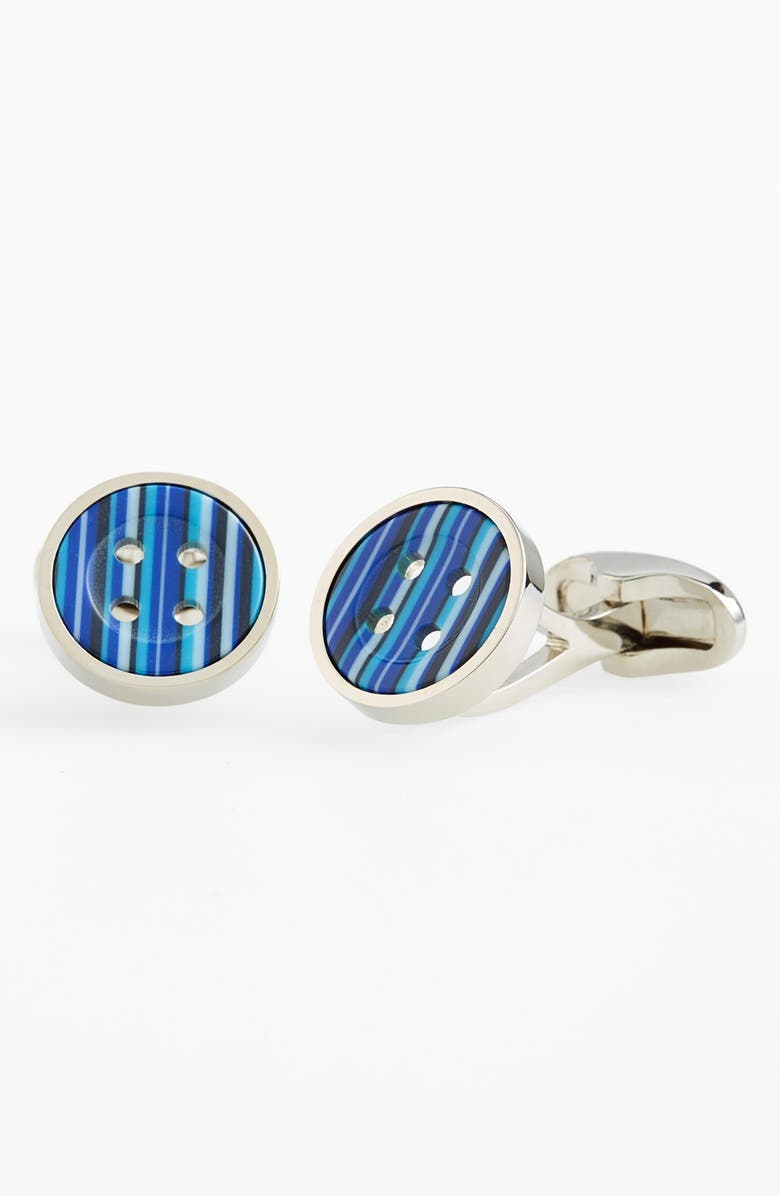 PAUL SMITH Stripe Button Cuff Links, Main, color, 430