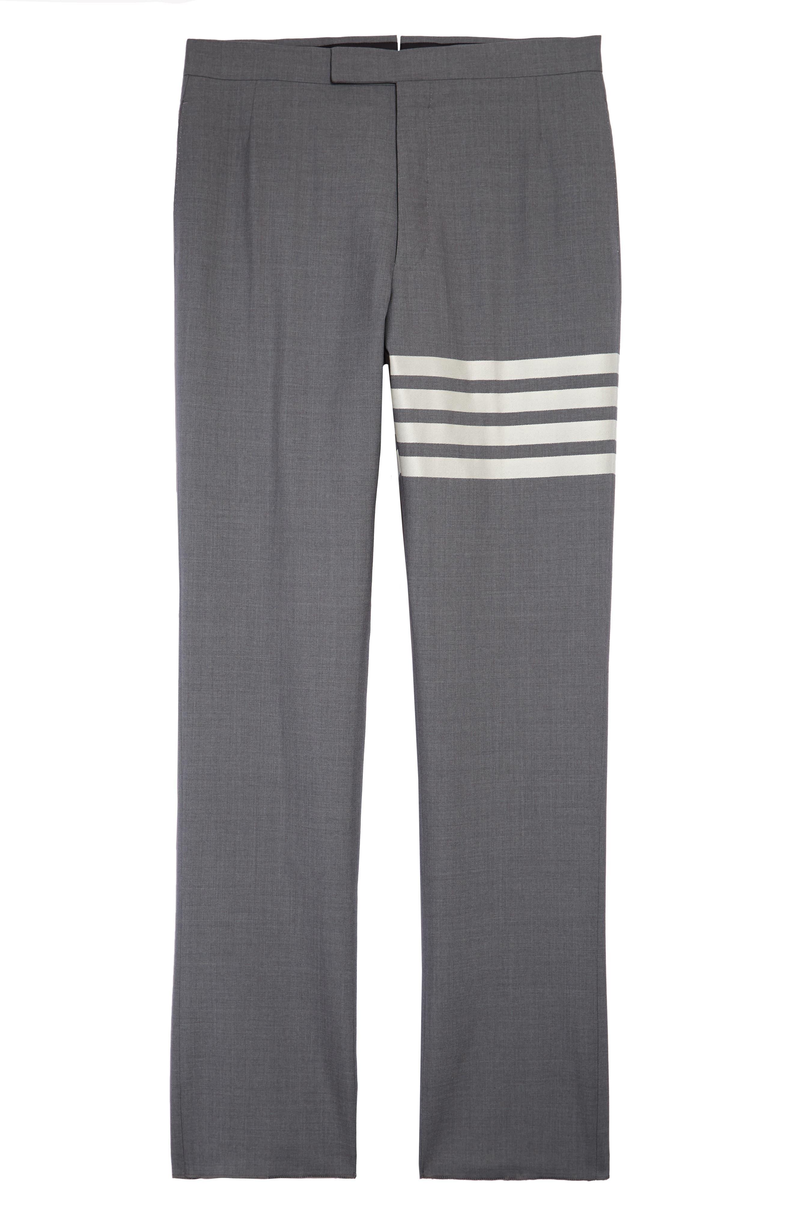 Men's Thom Browne 4-Bar Melange Wool Pants,  1 - Grey