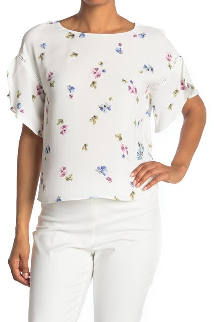 Image of Vince Camuto Floral Short Sleeve Blouse