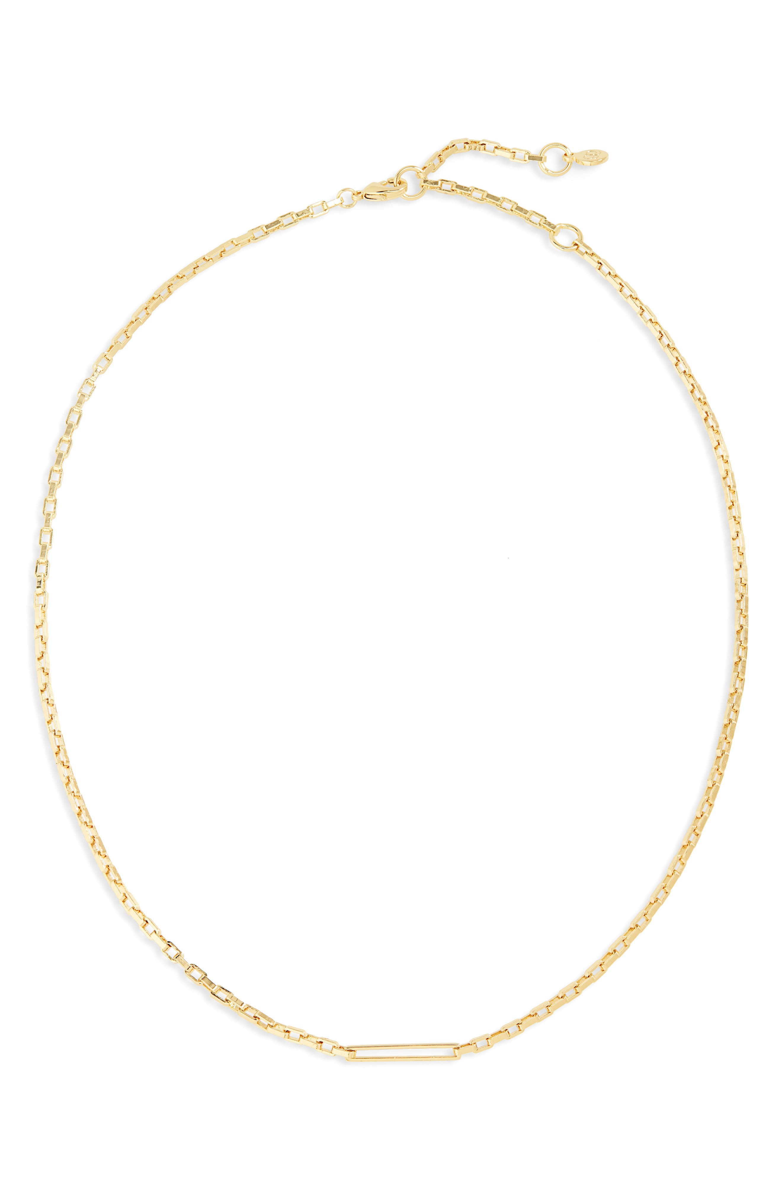 Nico Delicate Rectangle Chain Necklace