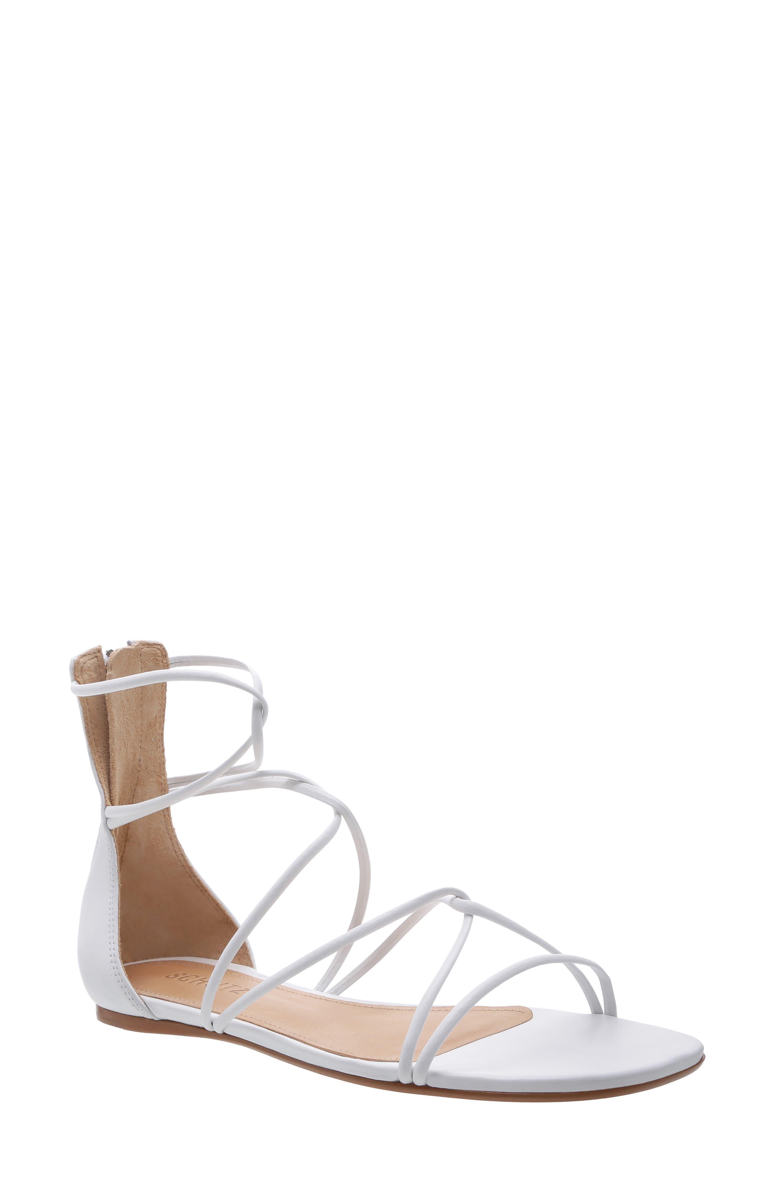 Schutz Fabia Strappy Sandal, White