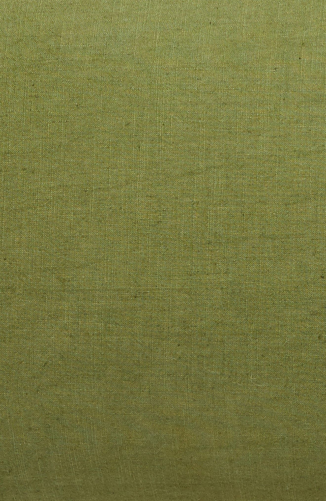 ,                             Relaxed Cotton & Linen Sham,                             Alternate thumbnail 3, color,                             OLIVE SPICE